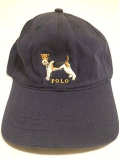 084a89b6be3 Vintage polo sport Ralph Lauren dog strap back navy hat Rare mint  fashion   clothing