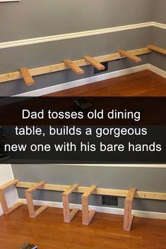 Man Builds Gorgeous Dining Table With His Bare Hands