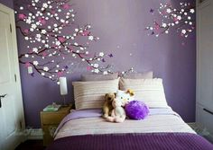Wall Decal for living room, Wall Decals Nursery, Wall Stickers for baby room, Wall decorations, Wal Bedroom Wall Designs, Wall Decals For Bedroom, Kids Wall Decals, Bedroom Decor, Vinyl Decals, Purple Bedrooms, Girls Bedroom, Baby Room Wall Stickers, My New Room