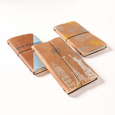 Stenciled Leather Notebooks - Project | Plaid Online