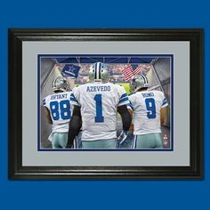 Take the field with the Cowboys! It's as if you're right there with Dez Bryant and Tony Romo on game day! A must-have for any true Cowboys fan! Cowboy Games, Dez Bryant, Tony Romo, Danbury Mint, Cowboys, 1, Framed Prints, Sports, Hs Sports