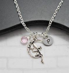 Tinkerbell inicial collar  hada Luna  Disney Tinkerbell