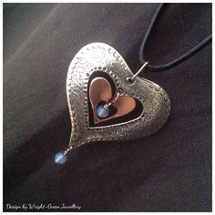 Silver heart and copper