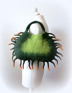 Felted handbag CRAB felt bag by Feltmondo on Etsy