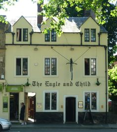 "Built around 1650, it has had many nicknames over the years including ""Bird and baby"" and ""Fowl and Foetus"". Writers including C.S. Lewis and J.R.R. Tolkein would met here as part of The Inklings in the back bar called the ""rabbit room"". It was here that C.S. Lewis handed out his first draft of The Lion, the Witch and the Wardrobe in 1950"