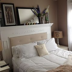 DIY Fireplace Mantel Headboard I LOVE THIS, AND I AM GOING TO TRY IT!!!