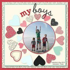 My Boys #layout by Amy Bollman #scrapbook