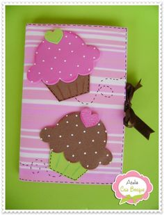 Diy Cuadernos Apuntes 35 Ideas For 2019 Foam Crafts, Diy And Crafts, Crafts For Kids, Arts And Crafts, Paper Crafts, Notebook Covers, Journal Covers, Cupcake Crafts, Birthday Souvenir