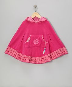 Look at this Hot Pink French Terry Beach Poncho - Infant, Toddler & Girls on #zulily today!