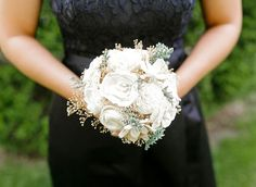 Bridesmaid Bouquet, Sola Flowers, Vintage Collection Wedding by CuriousFloral