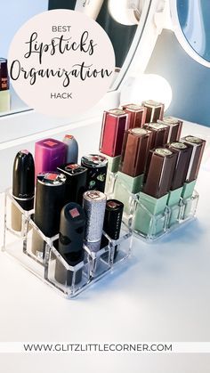 Best Way to Organize Your Lipsticks Makeup Dupes, Diy Makeup, Diy Beauty, Beauty Hacks, Beauty Room, Beauty Tips, Lipstick Organizer, Avon Lipstick, Lotion For Dry Skin
