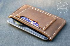 Leather case,iPhone6 ,sleeve wallet, mens,mens wallets,iphone wallet ,mens gift,husband gift ,boyfriend gift,fiancé gift,dad valentine by NorthJourney on Etsy