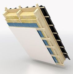 An eco-friendly rooftop is typically a roof top that is actually were taught in herbs, which often reduces stormwater run-off and lessens air-conditioning fees. Painel Sandwich, Minecraft Roof, Roof Design, House Design, Red Roof, Roof Top, A Frame House Plans, Roofing Options, Roof Insulation