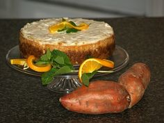 This baked cheesecake recipe is a sweet potato cheesecake recipe. Blending the mashed sweet potatoes with the cream cheese and cottage cheese produces a wonderful light texture and flavor. The orange marmalade sour cream topping finishes this cheesecake to perfection.