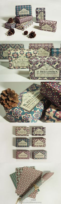 Lovely patterned #papers and #packaging PD
