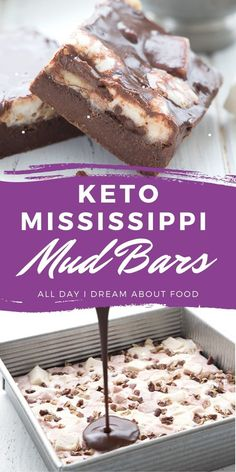 Fudgy keto brownies with a layer of sugar-free marshmallows and a delicious chocolate glaze.