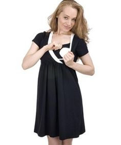 Hot looking Black Cotton Bello Voi Nursing dress, Made of High Quality Materials - 95% Cotton and 5% Spandex. Click on the image to view the product. #Nursing, #Breastfeeding, #Maternity, #Pregnant, #Pregnancy, #Ladies, #Dress, #LadiesDress, #Casual, #Maternitydress, #PregnancyDress, #Babyshower, #Gift