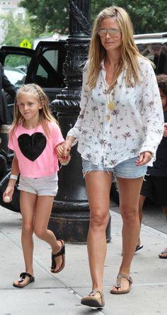Celebrities Wearing Birkenstocks - Heidi Klum from #InStyle