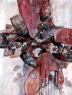 Sharon Blair Art and Design: Gone Fishing   www.sharonblair.com.au     - Art For Inspired Interiors           -  Mixed Media Artwork: Abstract