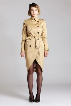 TRENCH COAT DRESS #trench #women #covetme