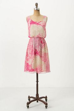 Rosy Plumes Dress #anthropologie
