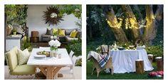 idée jardin et terrasse et décoration de salle à manger en blanc