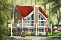 Two-Story Great Room House Plan - 80644PM | 1st Floor Master Suite, CAD Available, Canadian, Cottage, Metric, Mountain, PDF, Photo Gallery, Sloping Lot, Vacation | Architectural Designs