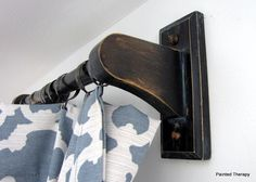 DIY, inexpensive curtain rods made from towel bars!