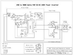 This is a heavy duty design of a Pulse Width Modulator DC/AC inverter using the chip . I've been using it as a backup to power up all my house when outages. Diy Electronics, Electronics Projects, Electronics Components, Electronic Circuit Projects, Electronic Schematics, Solar Inverter, Car Amplifier, Circuit Design, Circuit Diagram