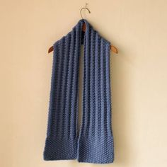 knitted scarf kit   pattern book「これが編みたい」より かのことリブのシンプルマフラー 糸セット MOORIT キット