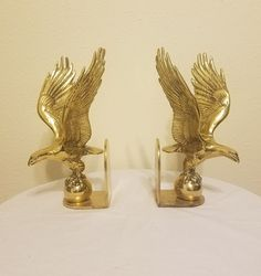 Hollywood Regency Brass Eagle Bookends | Collectibles, Decorative Collectibles, Book Ends | eBay!