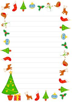 FREEBIE! Christmas Borders - Lined and Unlined Paper Christmas Border, Christmas Makes, Noel Christmas, Christmas Background, Christmas Activities, Christmas Printables, Christmas Themes, Holiday Crafts, Xmas Frames
