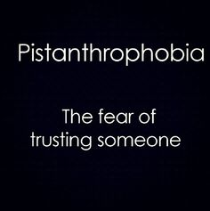 What is pistanthrophobia