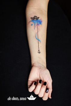 Tatto Barquinho de Papel Aquarela - Victor Octaviano - de … | Flickr