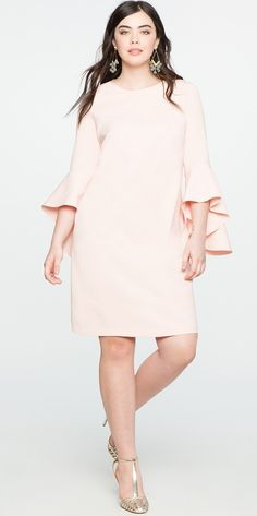 55 Plus Size Wedding Guest Dresses {with Sleeves} - Alexa Webb Plus Size Wedding Guest Dresses, Plus Size Cocktail Dresses, Plus Size Dresses, Plus Size Outfits, Long Dresses, Looks Plus Size, Elegantes Outfit, Plus Size Kleidung, Party Dresses For Women