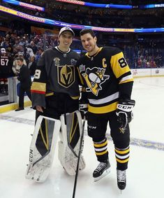 Sidney Crosby and Marc-Andre Fleury Photos Photos  2018 Geico NHL All-Star  Skills Competition 99db1d54a