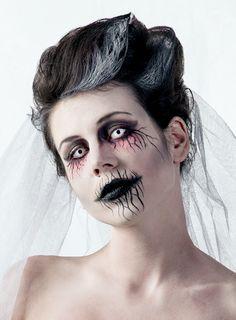 Make-up Geisterbraut.                                                                                                                                                                                 Mehr