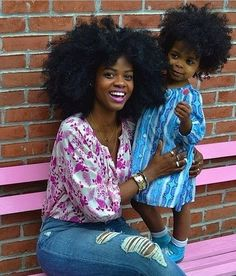Loving the mummy and child matching afro Natural Hair Journey, Natural Hair Care, Natural Hair Styles, Natural Beauty, Natural Curls, Scene Hair, Big Hair, Your Hair, Wavy Hair