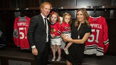 Brian Campbell visited the United Center to speak in a press conference about his retirement and talk about his new role in the Chicago Blackhawks business operations department.
