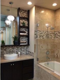 Unbeatable small bathroom remodel ideas with tub and shower Looking to update your bathroom? Check out these affordable small bathroom remodel ideas and designs. Get inspired for your next home remodeling project. Bathroom Renos, Bathroom Renovations, Home Remodeling, Shower Bathroom, Bathroom Ideas, Bathroom Makeovers, Budget Bathroom, Glass Shower, Shower Doors