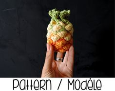 PDF PATTERN : Pineapple purse crochet pattern  by Ahookashop
