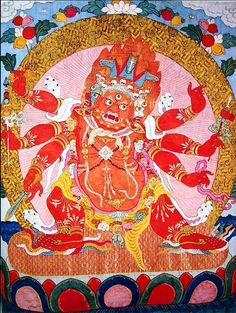 Hayagriva, in red