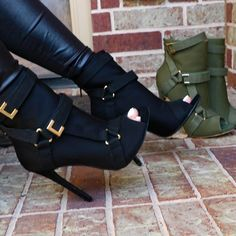 Army Green High Heel Ankle Boots Women Peep Toe Metal Buckle Short Bootie Thin Heels Gladiator Dress Shoes Women Plus Size 10 Sock Ankle Boots, High Heel Boots, Heeled Boots, Bootie Heels, Women's Shoes, Shoe Boots, Buy Shoes, Dress Shoes, Frauen In High Heels