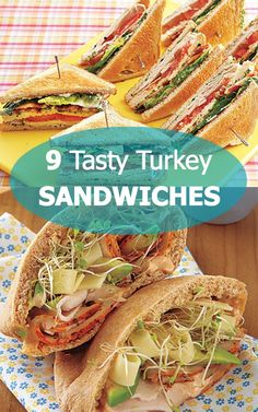 9 tasty (and filling) turkey sandwiches. I love turkey sandwiches! Cold Sandwiches, Turkey Sandwiches, Delicious Sandwiches, Roast Beef Sandwich, Soup And Sandwich, Sandwich Recipes, Monte Cristo Sandwich, Lunch Snacks, Yummy Food
