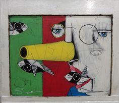 Fond of You by Michael Banks Michael Banks, Atlanta Art, Outsider Art, Black Art, Contemporary Artists, Art Museum, Framed Art, Folk Art, The Outsiders