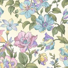 Graceful Garden Large Floral - Amethyst by EPIC Textiles Cotton Quilting Fabric Yardage Flower Patterns, Print Patterns, Fabric Patterns, Cotton Quilting Fabric, Cotton Quilts, Moda Grunge, Botanical Drawings, Fat Quarters, Purple Themes