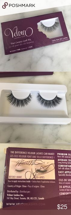 RARE ONE OF A KIND VELOUR LASHES✨ You will never find these ever… Custom made for me, and the box is signed by the founders of the company!!! 100% real silk luxury lashes… One pair never used… Never taken off plastic. ‼️SORRY NO TRADES ‼️PRICE FIRM UNLESS BUNDLED  ‼️ITEMS SHIPPED NEXT BUSINESS DAY Velour Lashes Makeup Mascara