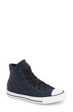 Converse Chuck Taylor® All Star® Quilted High Top Sneaker (Women) available at #Nordstrom