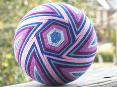 Hexagons and Swirls by Crafty Panties, yarn