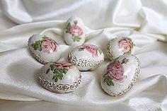 Dekorácie - Veľkonočné vajíčko -Ako z porcelánu - 5129589_